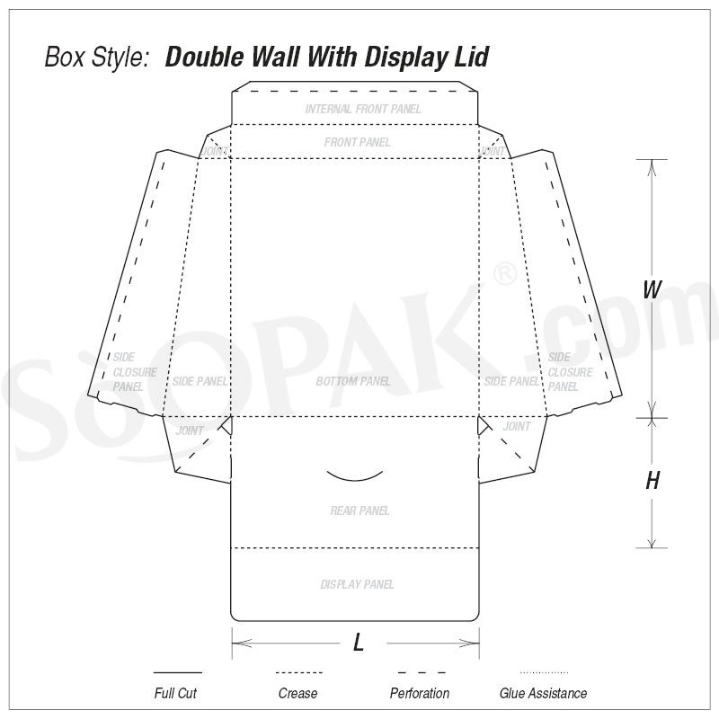 Household Double Wall with Display Lid