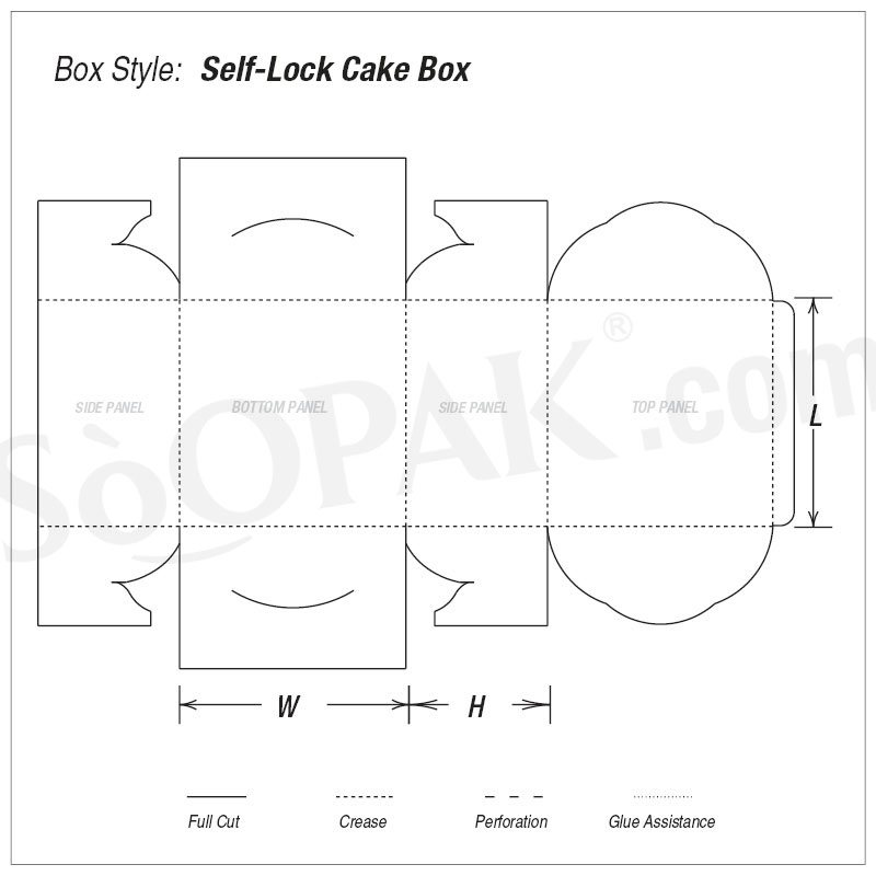 Self-Lock Cake Box