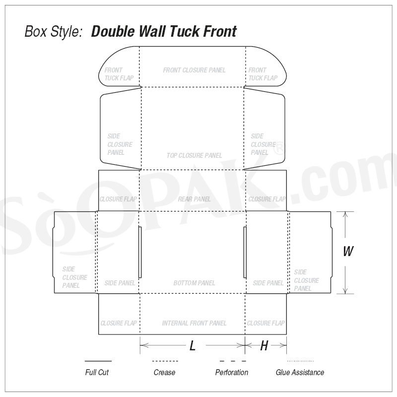 Gift Double Wall Tuck Front