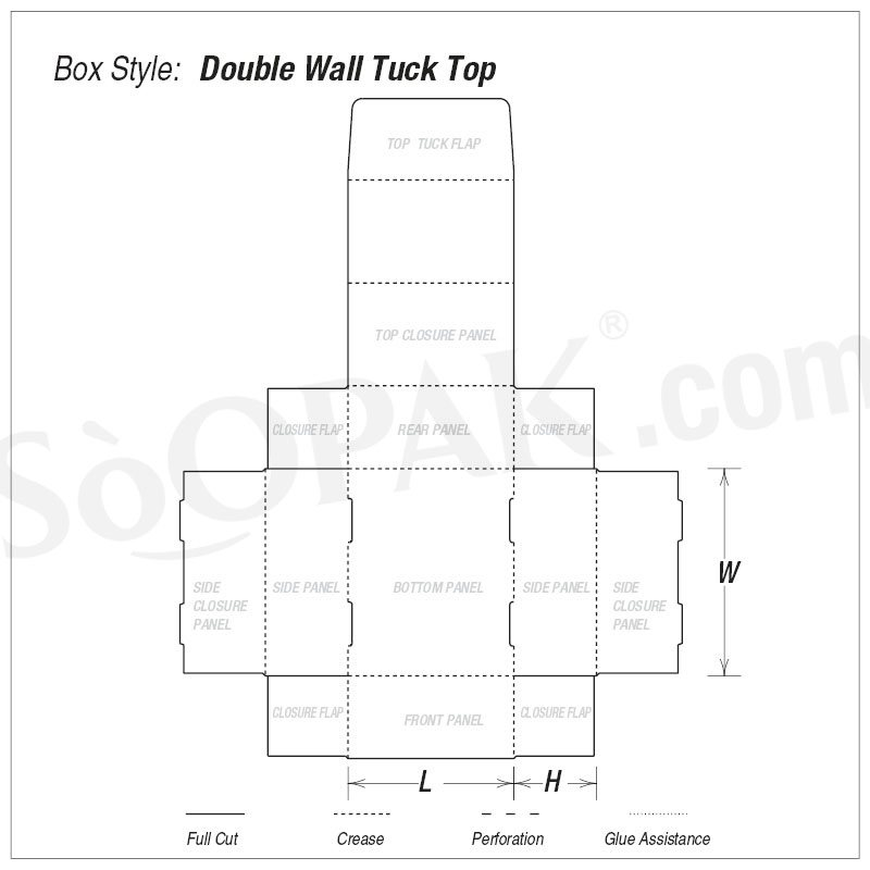 Food Double Wall Tuck Top