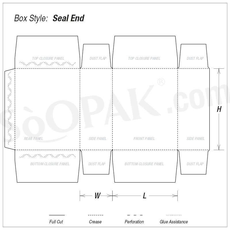Candy Box Seal End Boxes