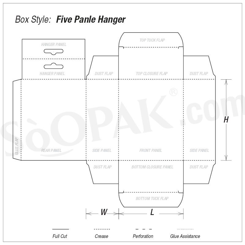 Hair Product Five Panel Hanger boxes