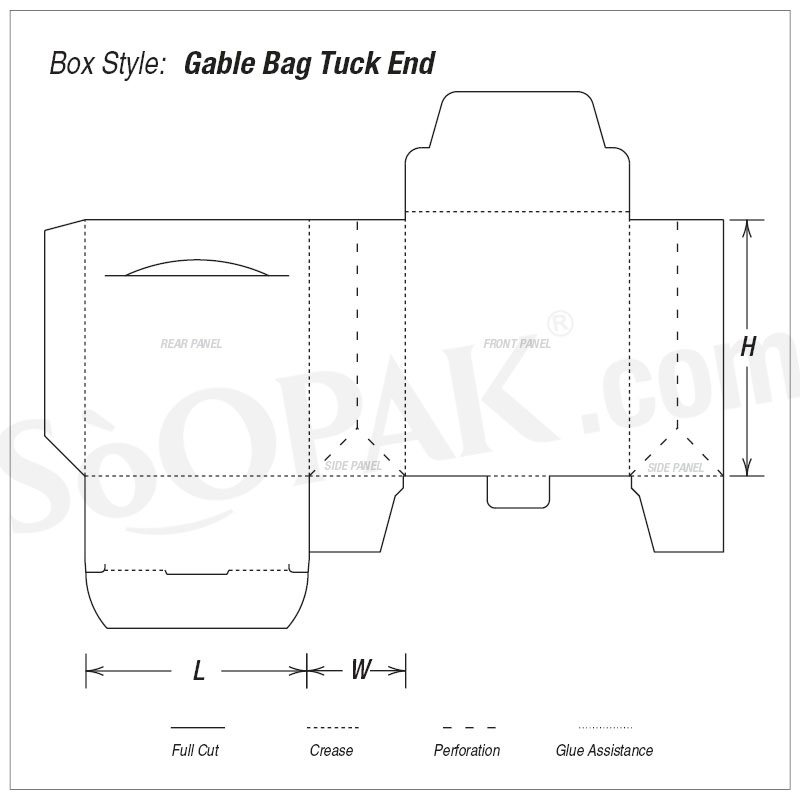 Gift Gable Bag Tuck End
