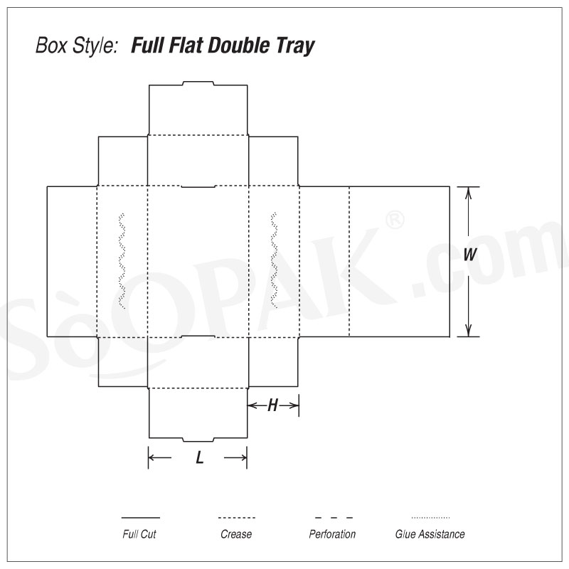 Consumer Full Flat Double Tray