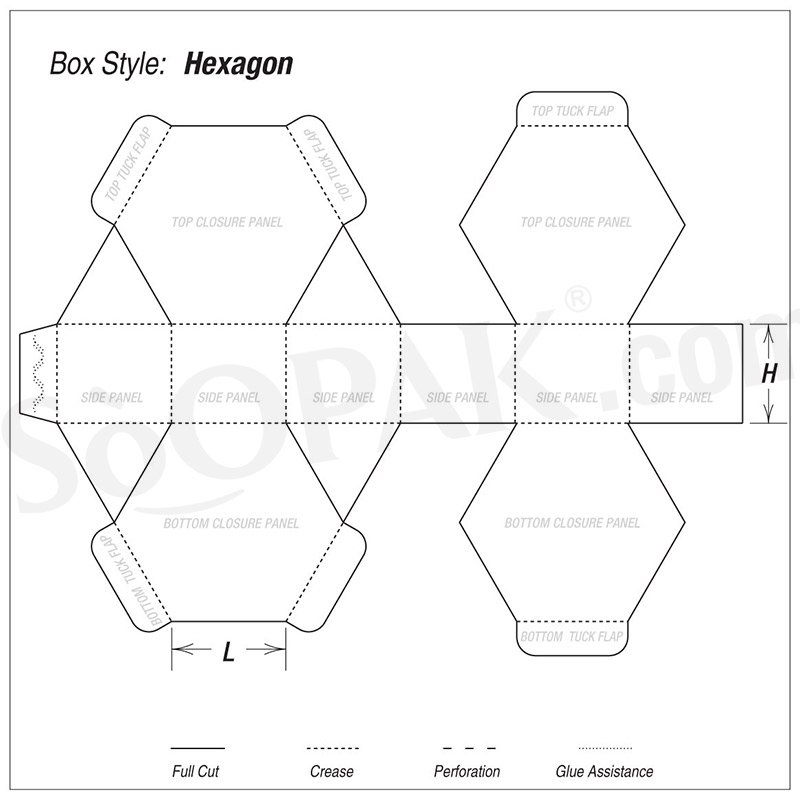Gift Hexagon Boxes
