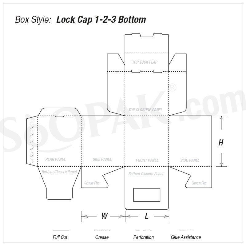 Lock Cap 1-2-3 Bottom