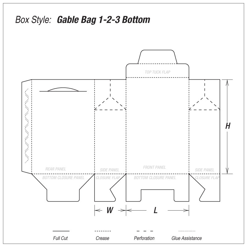 Nutraceutical Gable Bag boxes