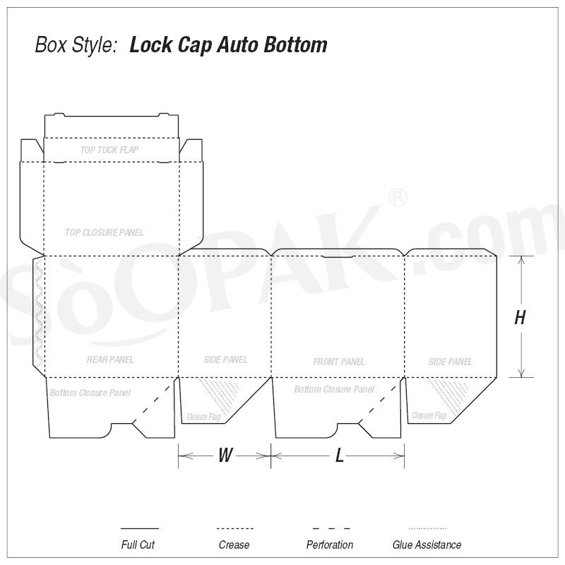Food Lock Cap Auto Bottom