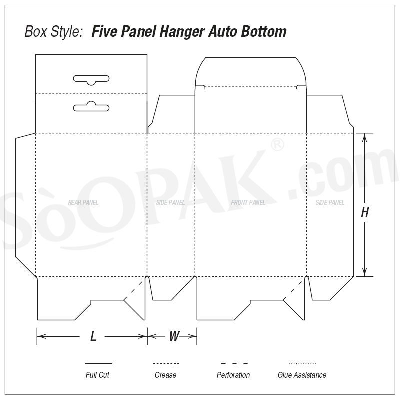 Five Panel Hanger Auto Bottom