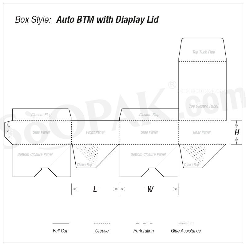 Auto Bottom Counter Display boxes