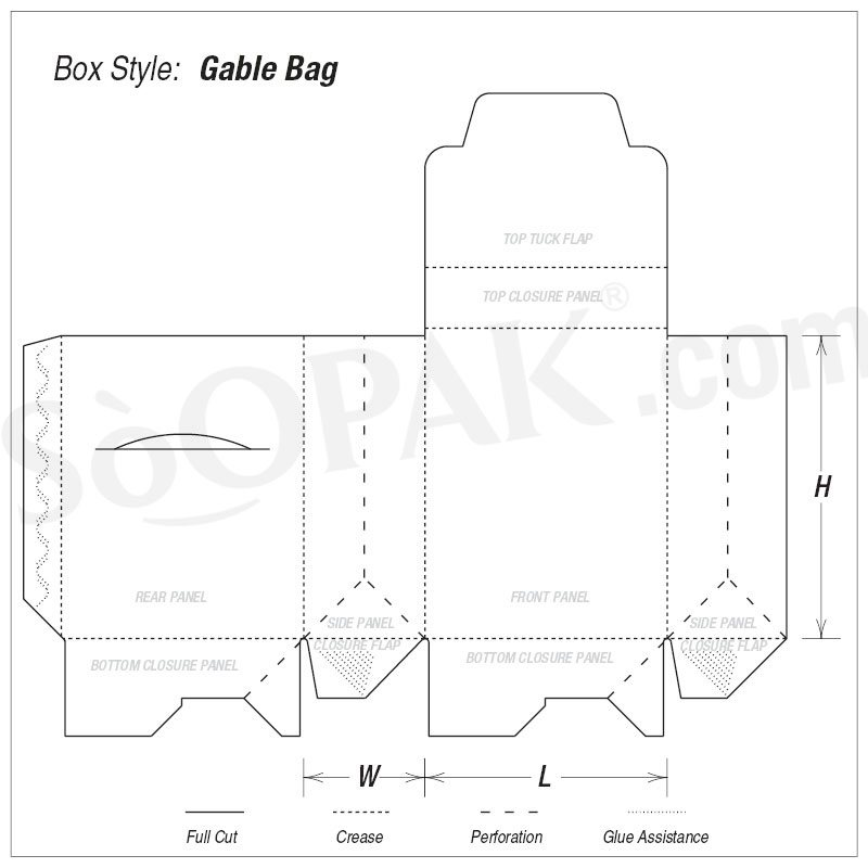 Food Gable Bag Auto Bottom boxes